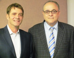 Movie Producer Joe Della Monica (left) and fathers' rights attorney Jeffery Leving