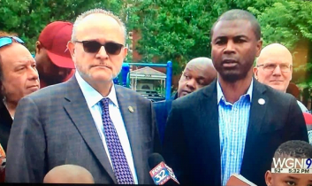 Leving joins Rep. LaShawn Ford at Fathers' Day News Conference